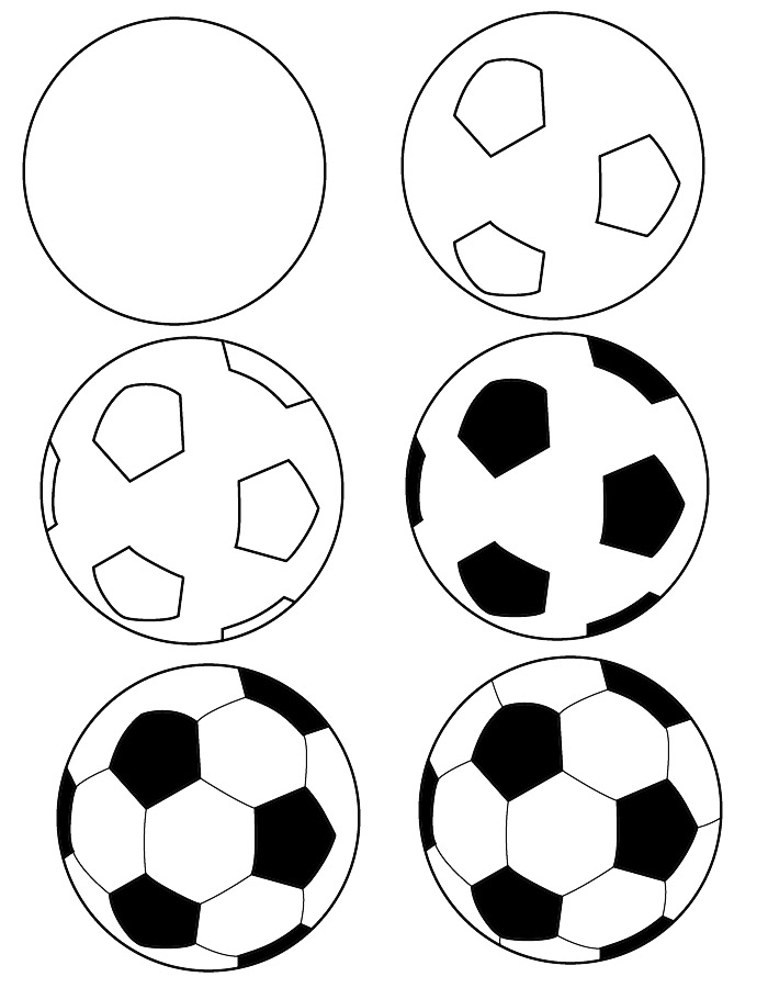 700x900 Drawing Soccer Ball