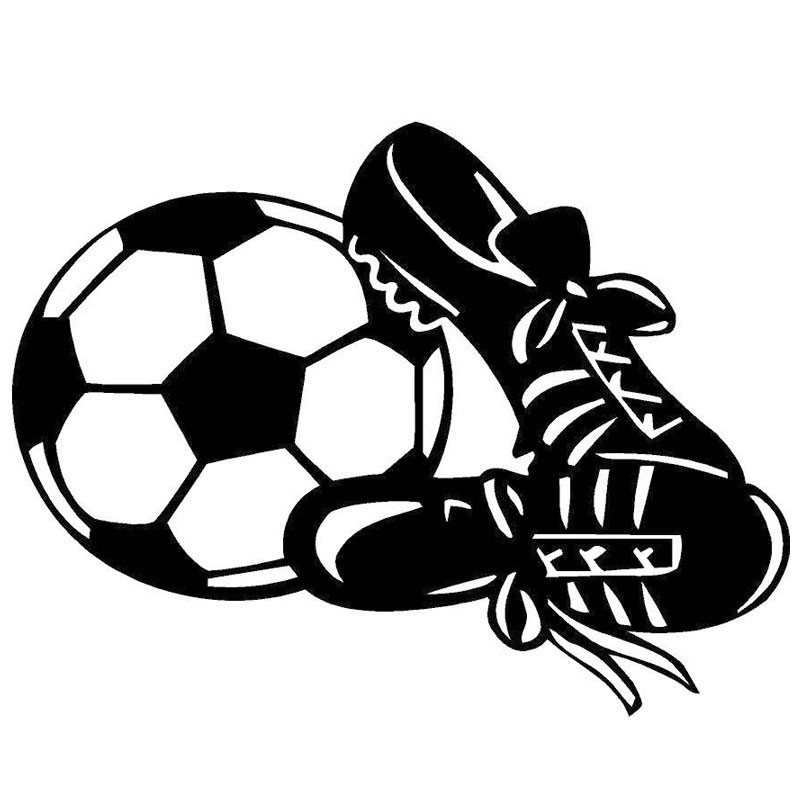 800x800 Drawn Ball Soccer Shoe