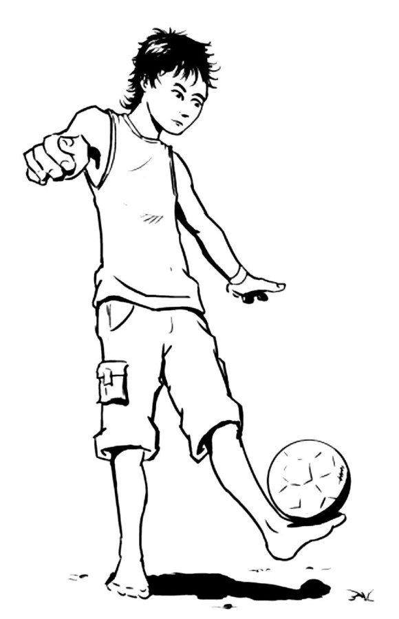 580x900 Juggling The Ball Soccer Coloring Pages
