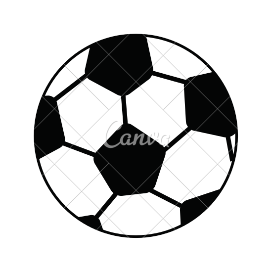 550x550 Soccer Ball Cartoon Vector Illustration