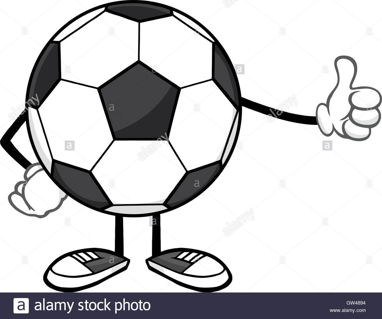 1300x1083 Soccer Ball Faceless Cartoon Mascot Character Giving A Thumb Up