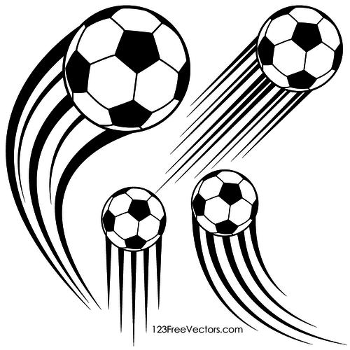 500x500 19966 Soccer Ball Clip Art Outline White Public Domain Vectors