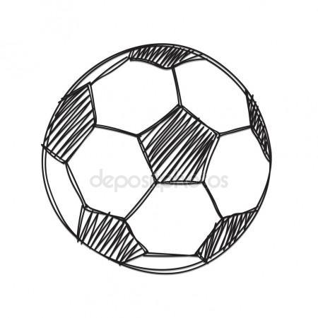 450x450 Hand Draw Football Ball Stock Vector Madozi
