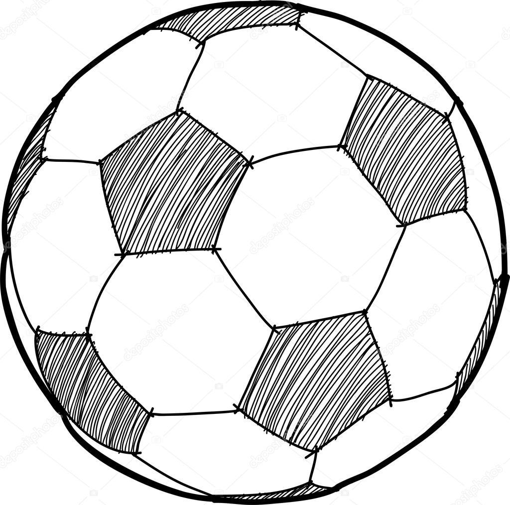 1024x1014 Hand Writing Soccer Ball ( Football ) Cartoon Stock Vector