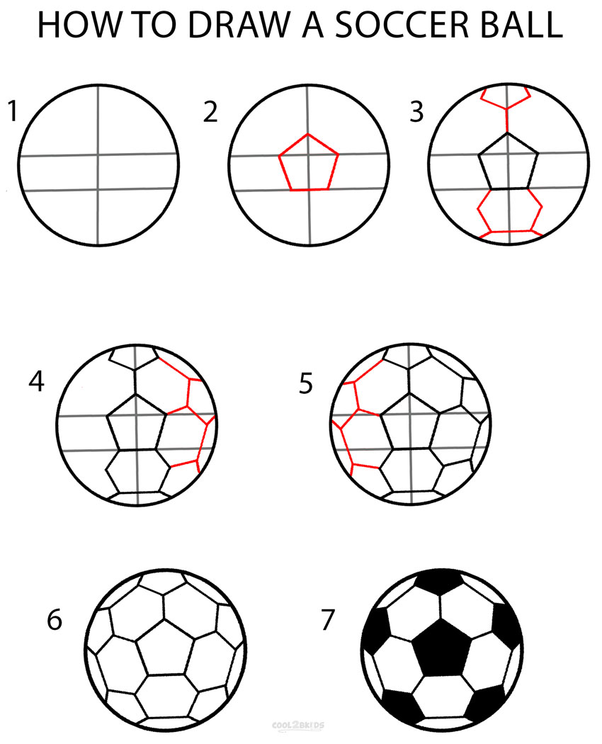 850x1050 How To Draw A Soccer Ball (Step By Step Pictures) Cool2bkids