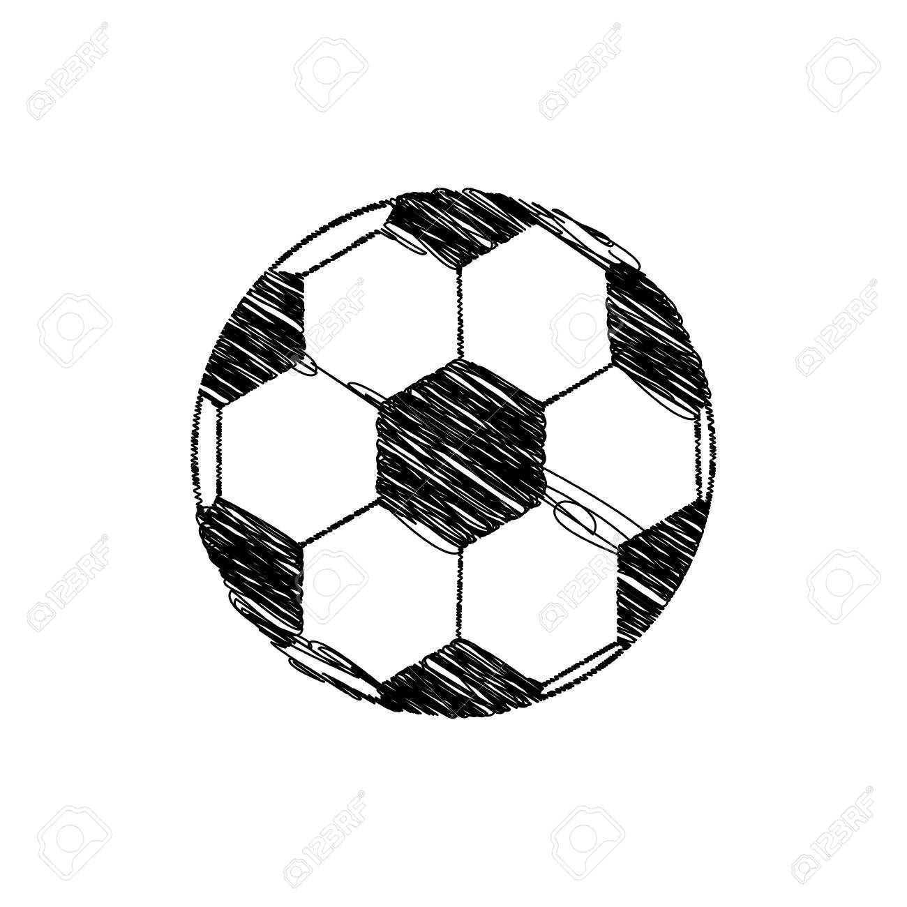 1300x1300 Silhouette Drawing Soccer Ball Element Sport Vector Illustration