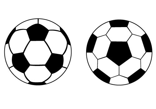 500x350 Soccer Ball Silhouette Soccer Ball Silhouette Vector Free Download
