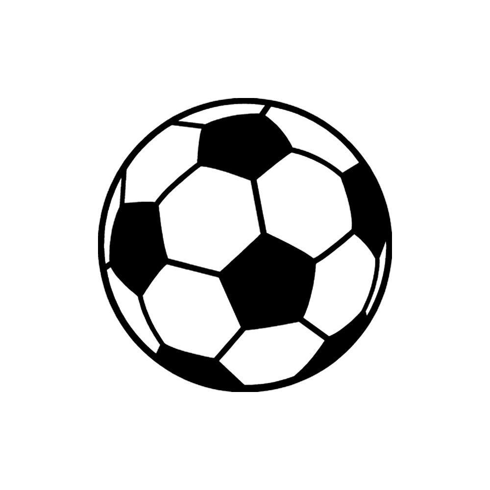 1000x1000 Soccer Ball Small 3 Tall Black Vinyl Window Decal