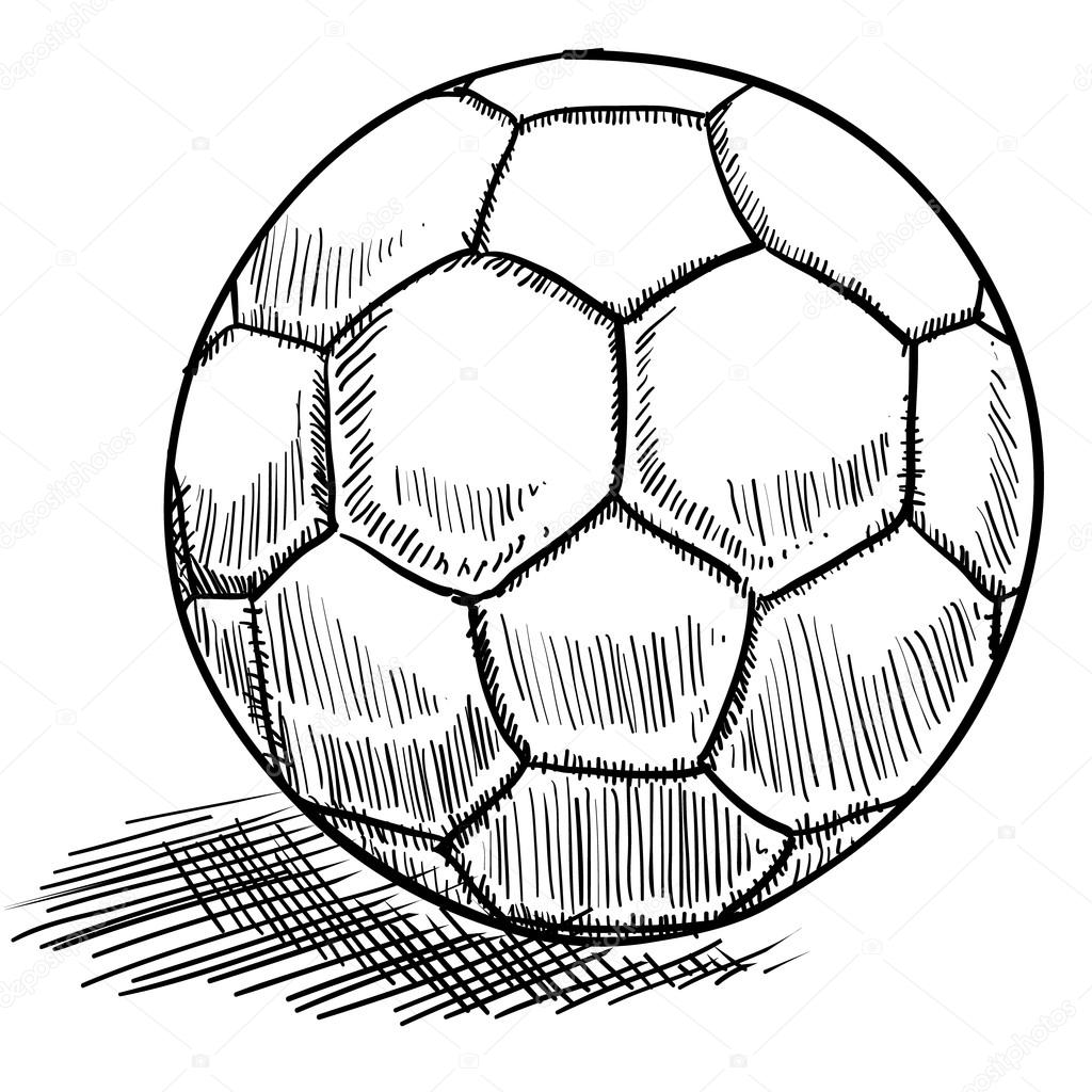 1024x1024 Soccer Ball Sketch Stock Vector Lhfgraphics