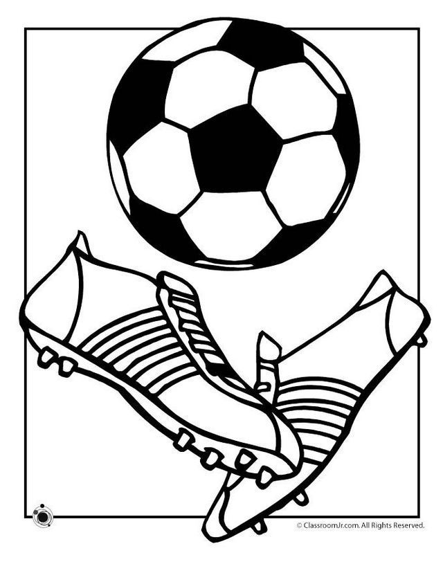 640x828 Soccer Ball And Shoes Coloring And Drawing Page Sport Coloring