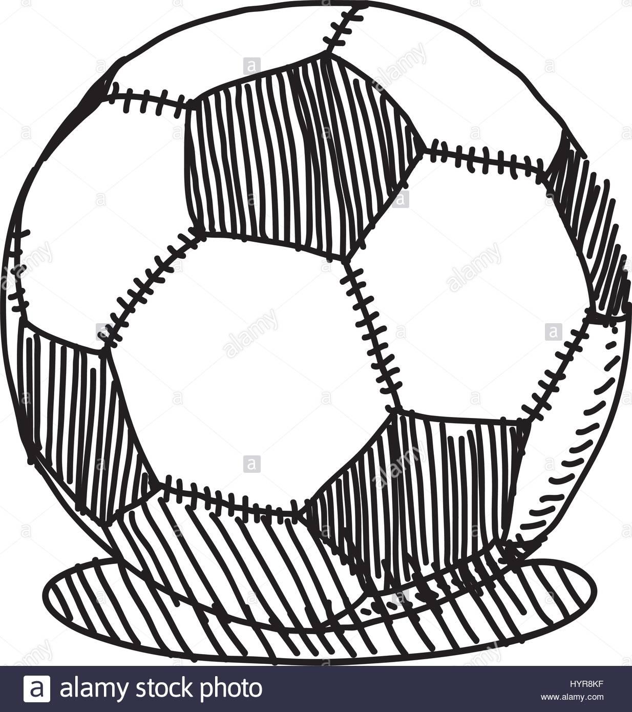 1234x1390 Vector Hand Drawing Sketch Soccer Ball Illustration Stock Vector