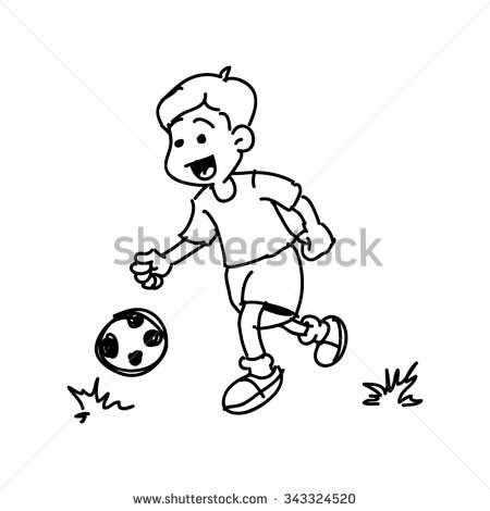 450x470 Drawn Line Football