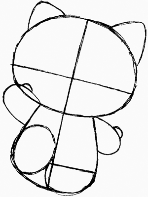 300x399 How To Draw Hello Kitty With Easy Step By Step Drawing Lesson