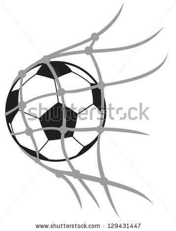 357x470 Soccer Goal Drawing
