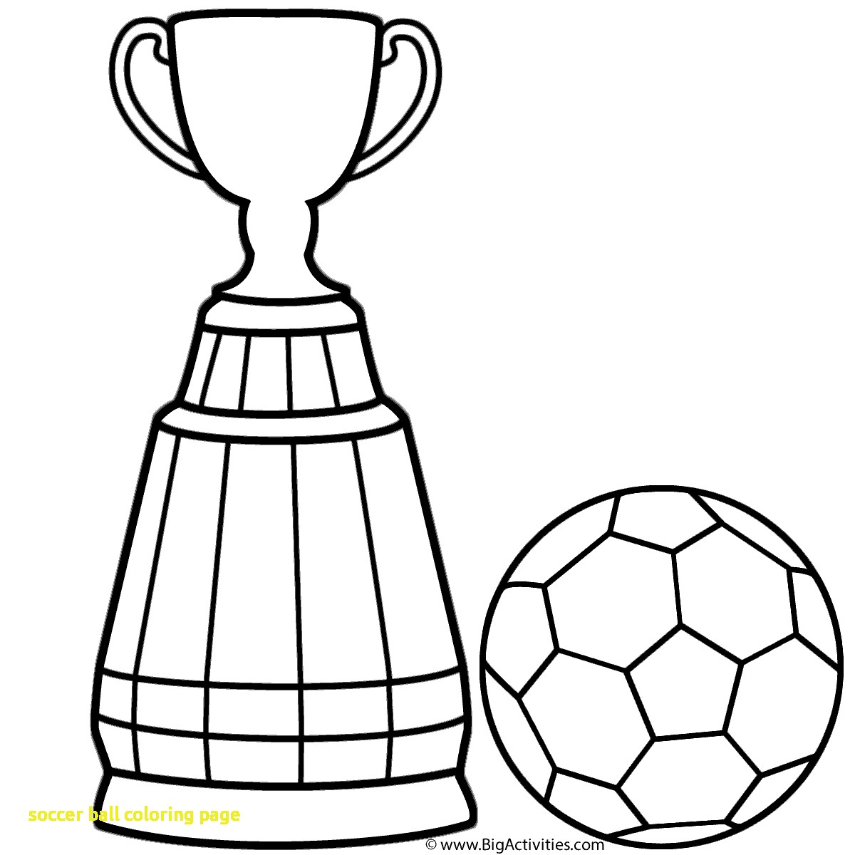 1200x1200 World Cup Trophy Soccer Coloring Pages Coloring