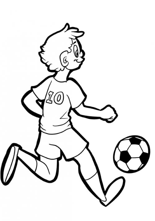500x709 Boy Soccer Player