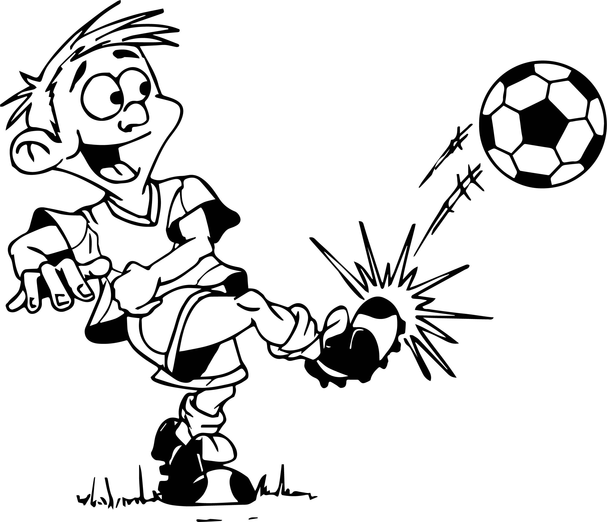 2495x2147 Kick A Ball Kids Playing Football Coloring Page Wecoloringpage