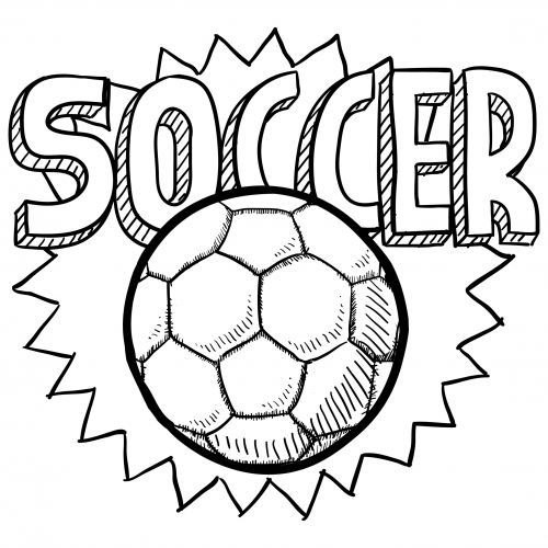 500x500 Soccer Ball Coloring Page For Kids