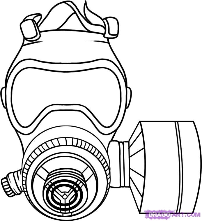 694x759 How To Draw A Gas Mask Step 5 Charachter Design