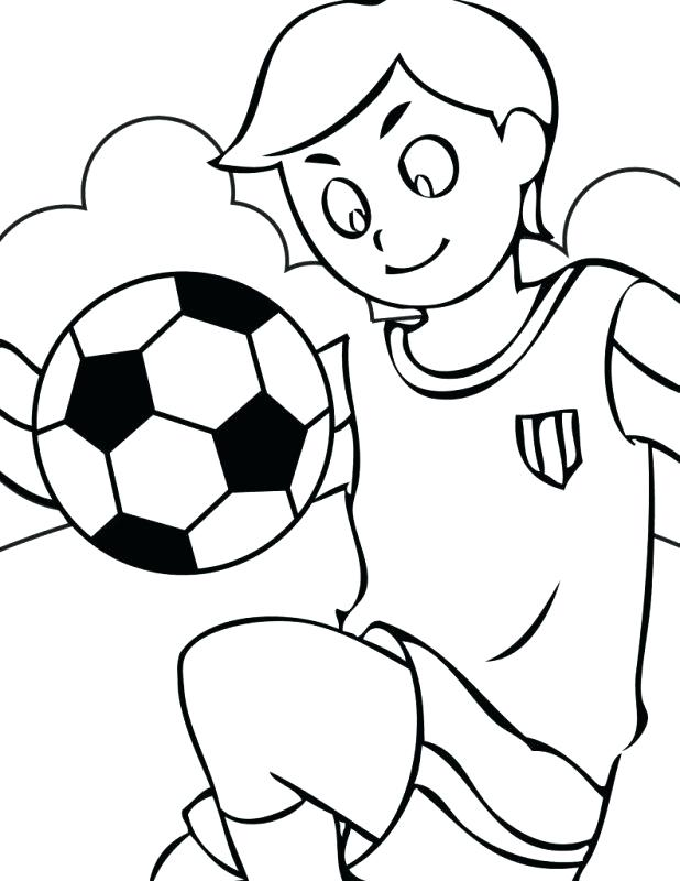618x800 Coloring Pages Of Soccer Balls Boy Kicking A Soccer Ball Kids