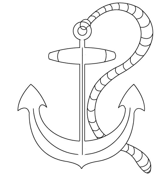 680x740 How To Draw An Anchor Easy Drawing Guides