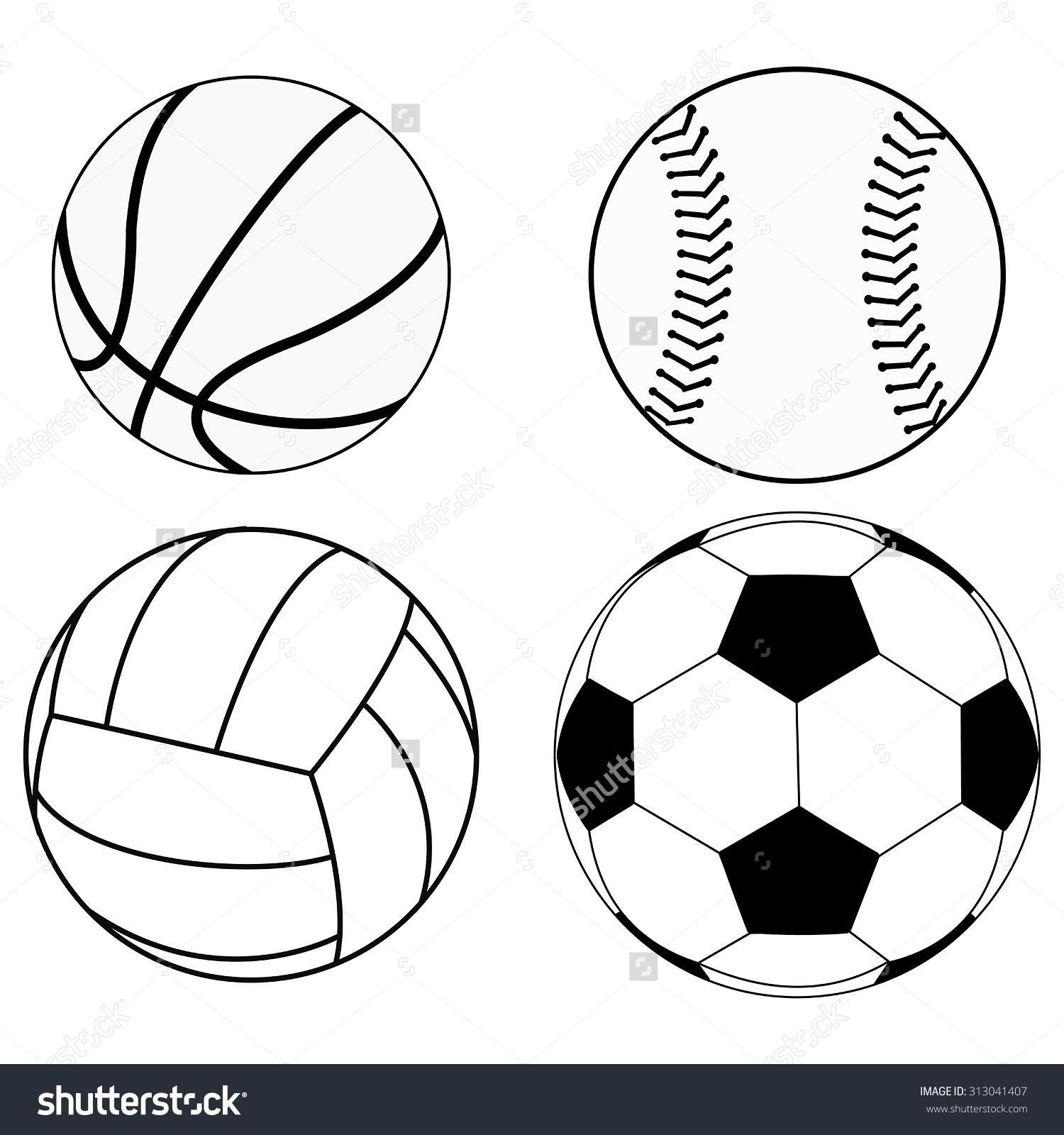 1500x1600 Printable Soccer Ball Drawing