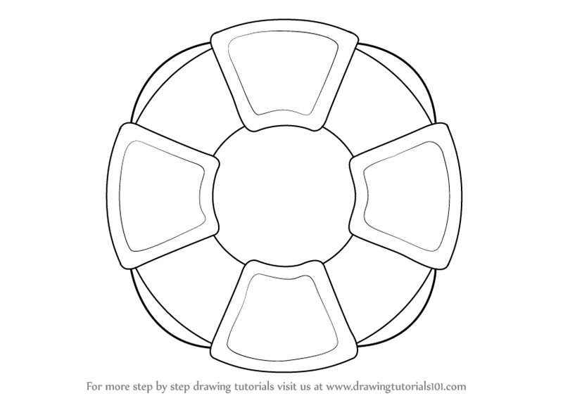 800x566 Step By Step How To Draw A Lifesaver Wheel