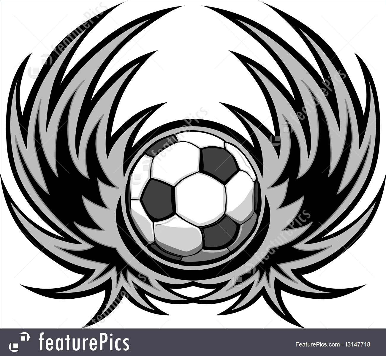 1300x1199 Games With Ball Soccer Template With Wings