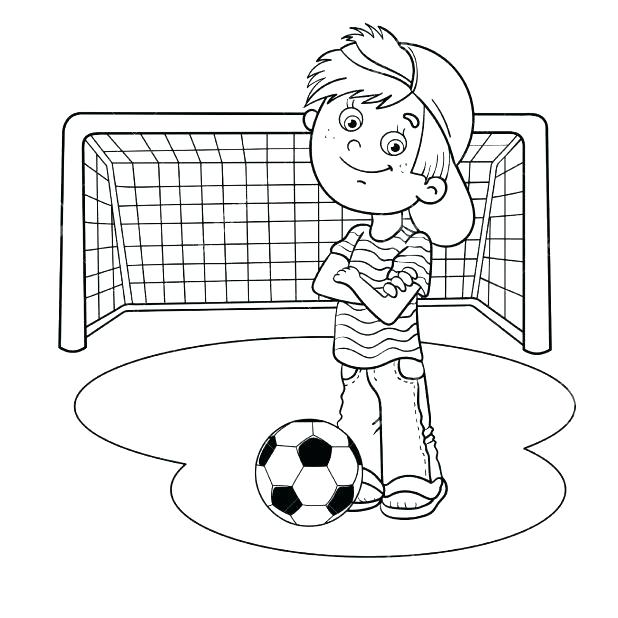 618x618 Outline Of A Football Best Collection Coloring Pages