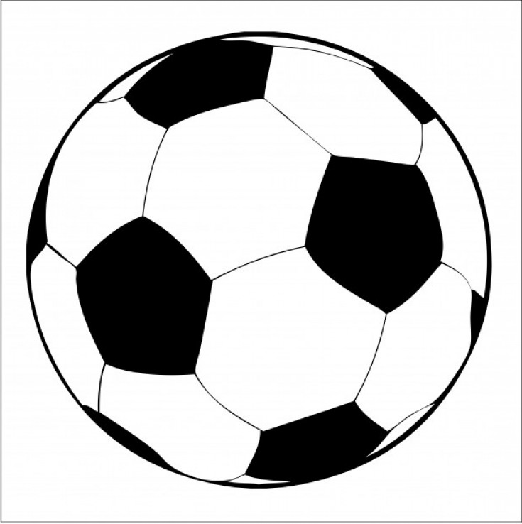 soccer ball line drawing at getdrawings com