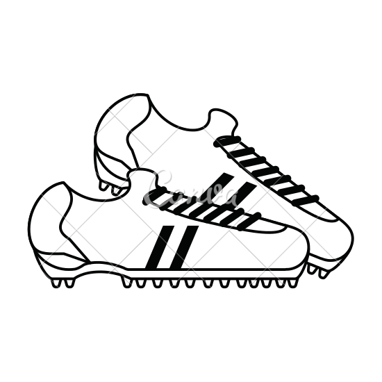 550x550 Cleats Football Soccer Shoes Icon Image