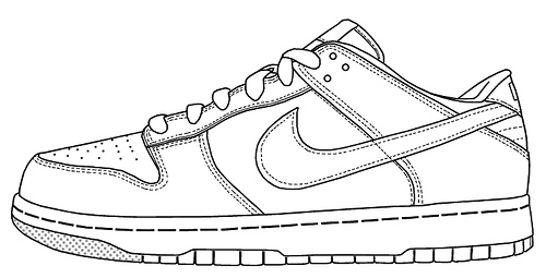500x255 Outline Of A Nike Shoe Model Aviation