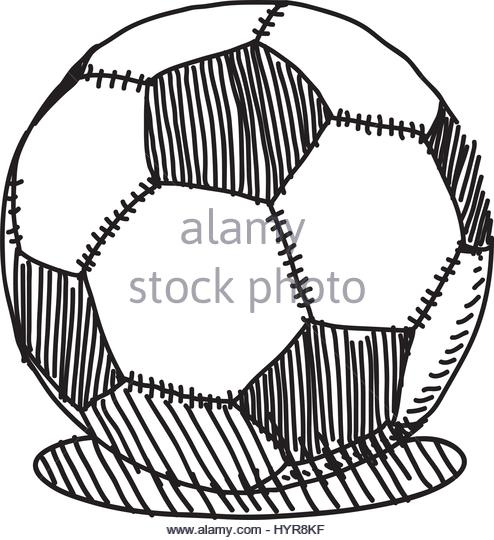 494x540 Hand Drawn Illustration Drawing Soccer Stock Photos Amp Hand Drawn