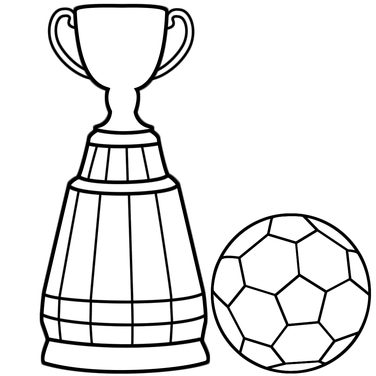 1200x1200 Soccer Coloring Pages Ball And Trophy