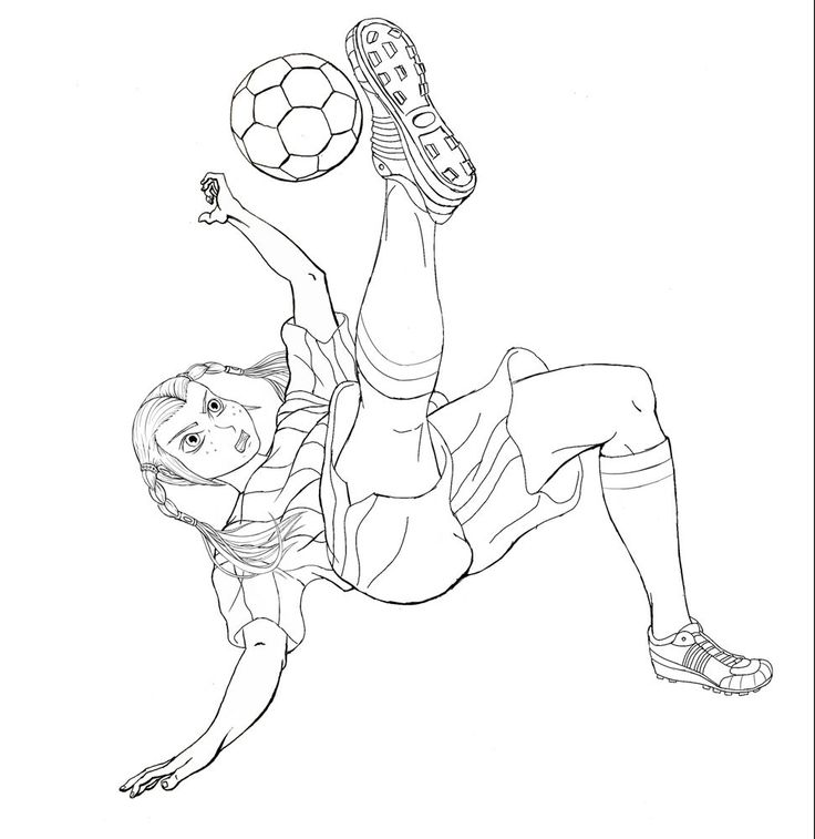 Soccer Girl Drawing