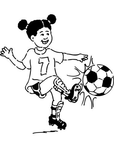 371x480 Girl Plays Football Coloring Page Free Printable Coloring Pages