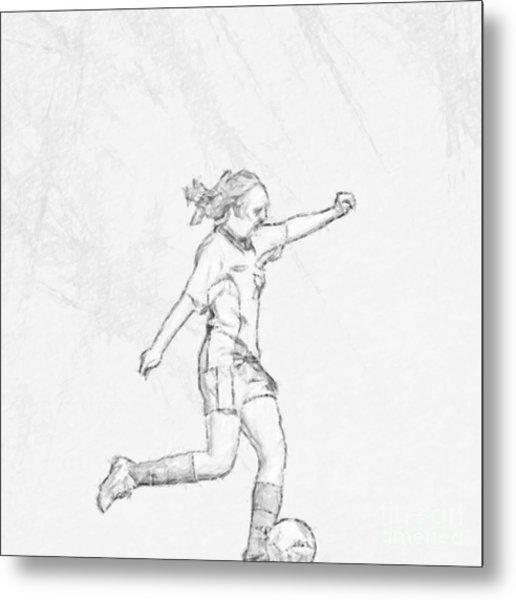 516x600 Girl Soccer Player Charcoal Sketch Digital Art By Randy Steele