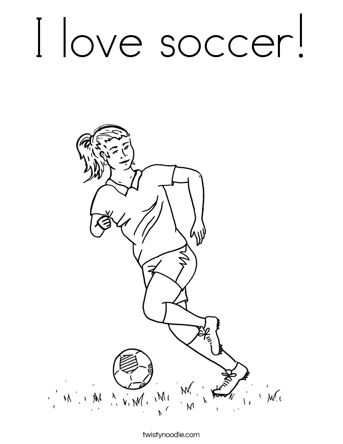 685x886 I Love Soccer Coloring Page