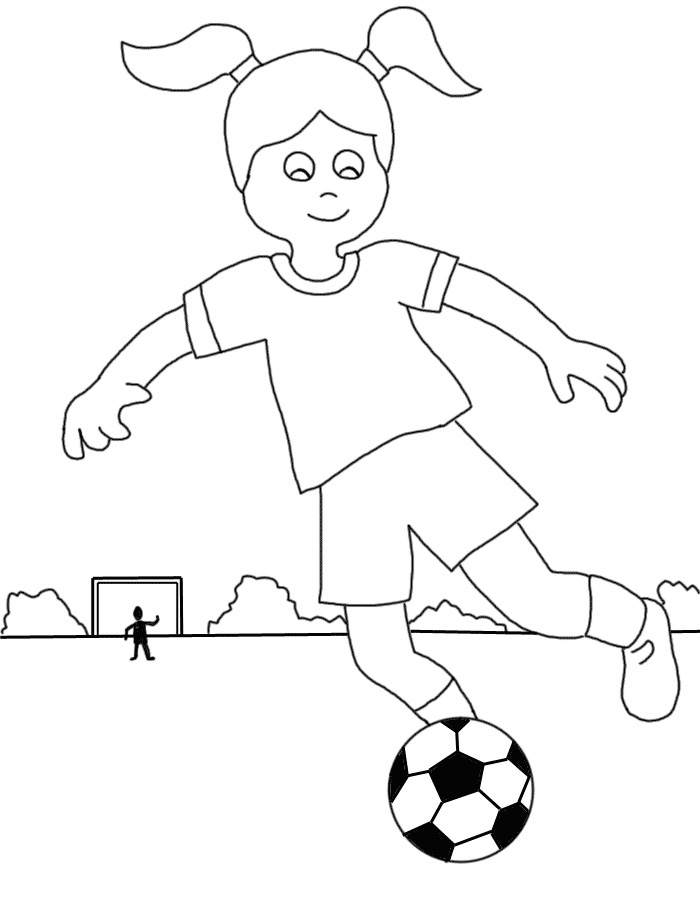 700x900 Colorings Girl Soccer Player Coloring