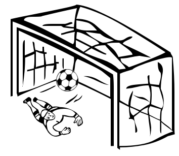 354x307 Image Of Soccer Goal Clipart Black And White