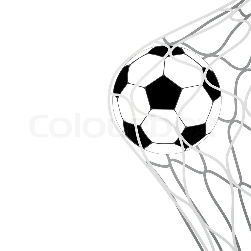 800x800 Isolated Soccer Ball In Goal Net Vector Stock Vector Colourbox