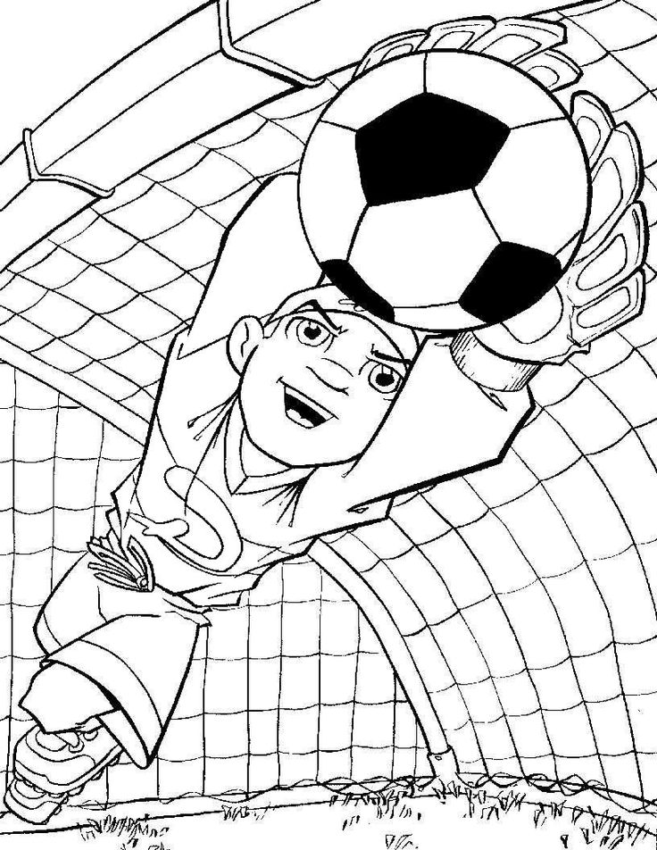 Soccer Goalie Drawing