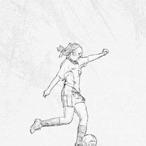 300x300 Soccer Girl Digital Art Fine Art America