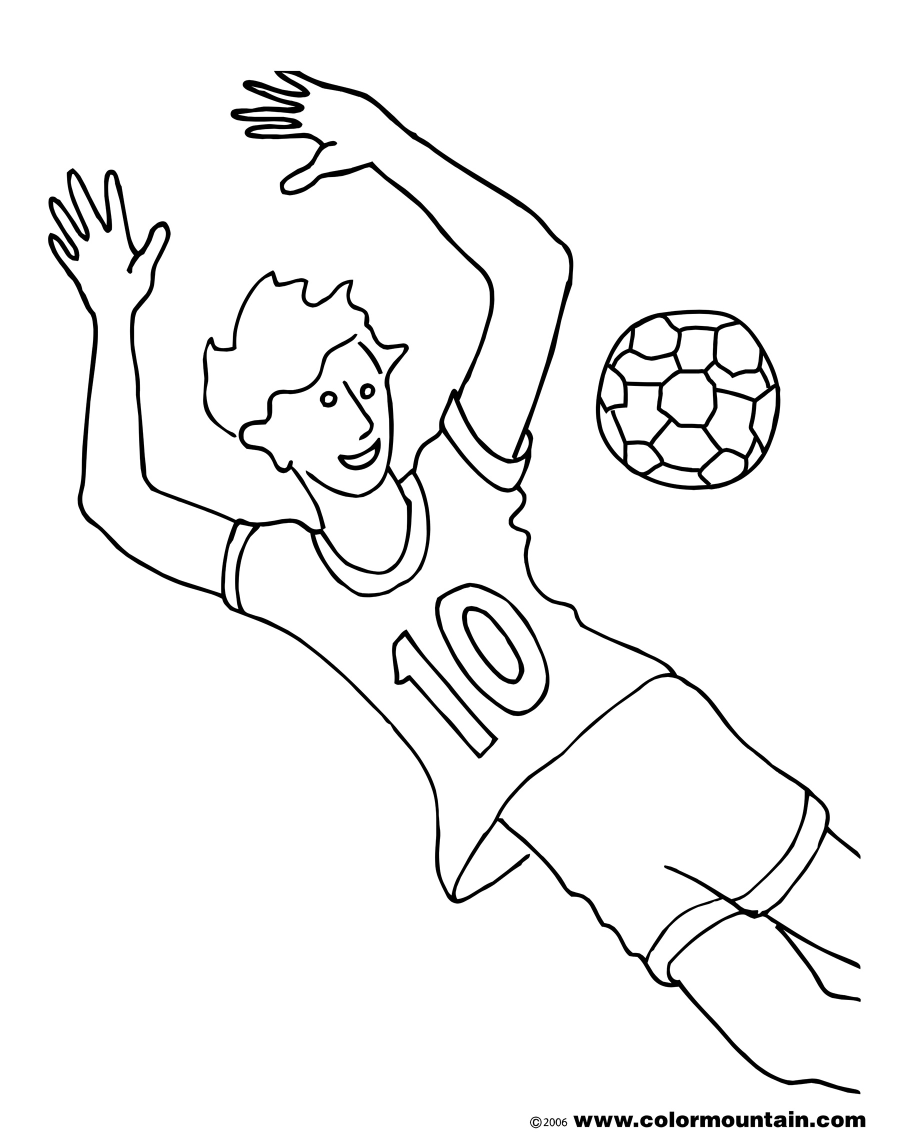 1800x2294 Soccer Goalie Coloring Page