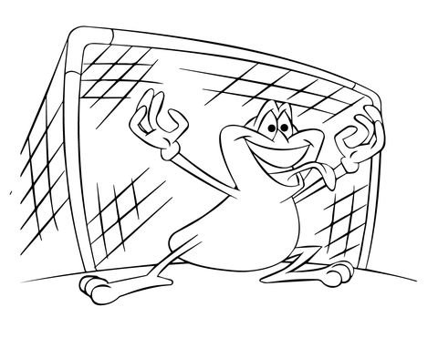 480x371 Soccer Goalie Frog Coloring Page Free Printable Coloring Pages