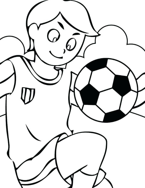 600x777 Soccer Coloring Sheet 1table.co