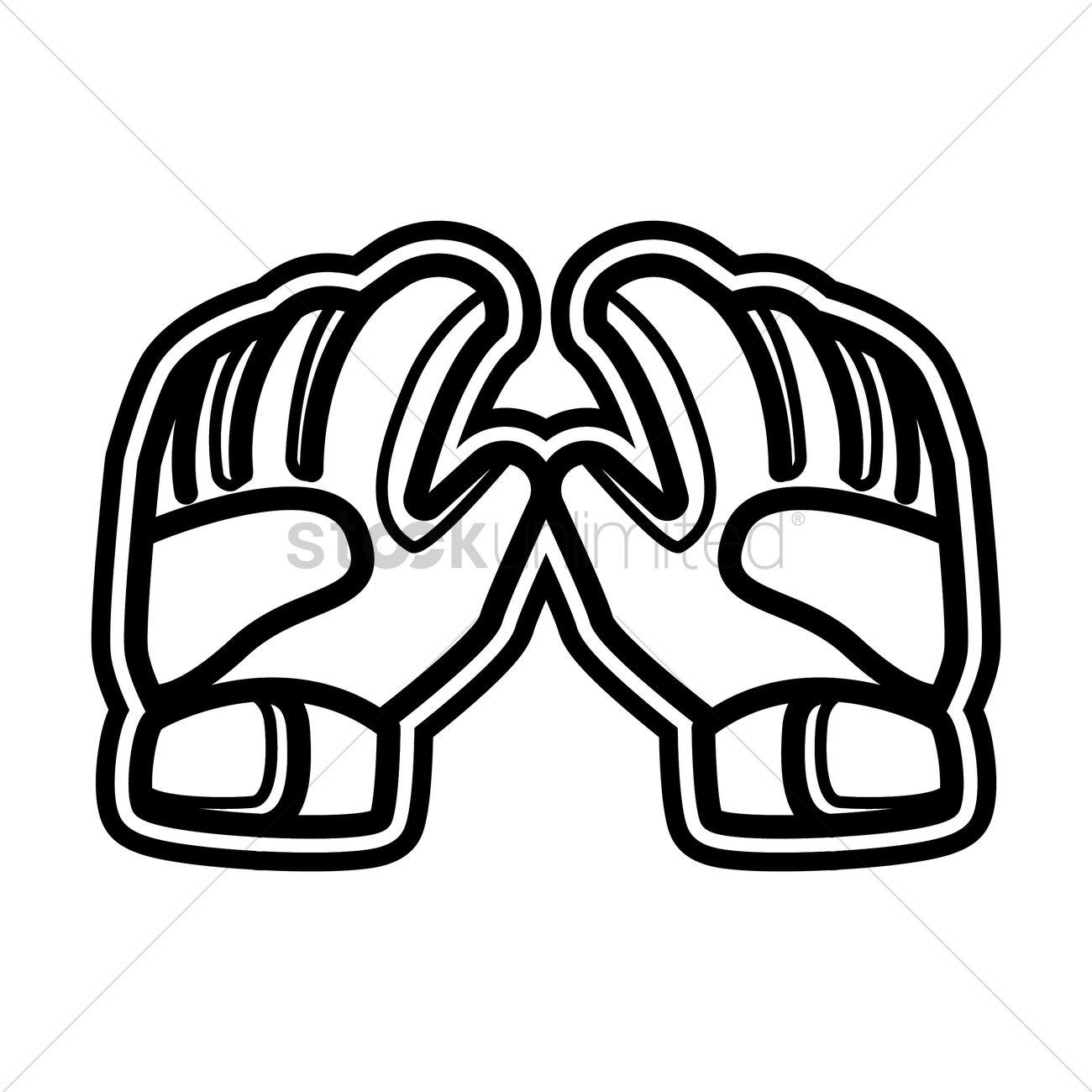 1300x1300 Goalkeeper Gloves Vector Image