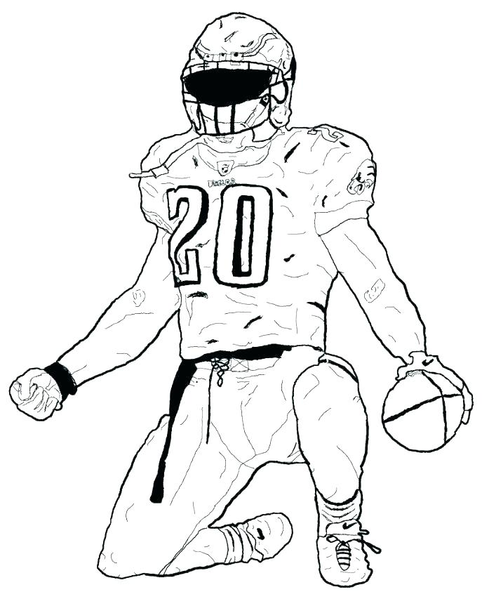 687x853 How To Draw College Football Players Team Coloring Sheets