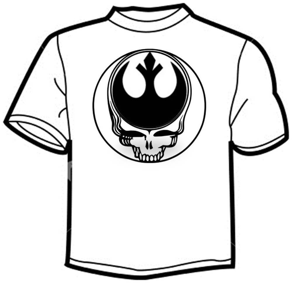 1000x968 Men's T Shirt Grateful Dead Star Wars Grateful Rebellion Jerry