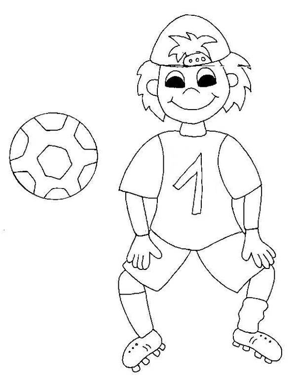 600x770 A Silly Boy On His Soccer Jersey Coloring Page